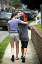 Mother walking with son Royalty Free Stock Photo