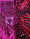 Motherboard fireworks Royalty Free Stock Images