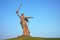 The motherland calls monument in volgograd russia july on july monumental memorial was constructed between Royalty Free Stock Photography
