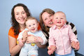 Mothers with babies Royalty Free Stock Photos