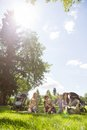 Mothers and children spending quality time in park summer Royalty Free Stock Photography