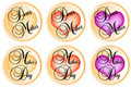 Mothers day badges Stock Image