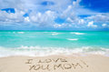 Mothers day on the beach background Royalty Free Stock Photo