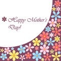Mothers day card with flowers on dark pink background Royalty Free Stock Photo