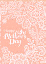 Mothers day card with a white lace vector vntage greeting happy s can be used as or poster Stock Photography