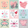 Mothers day cards set.Arrows, decor elements