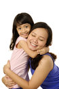 Mothers day concept happy women and young girl smiling mother Stock Photos