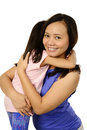 Mothers day concept happy women and young girl smiling mother Stock Images