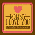 Mothers day design over brown background vector illustration Stock Photography