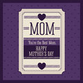 Mothers day design over purple background vector illustration Stock Photography