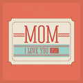 Mothers day design over red background vector illustration Stock Photos