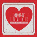 Mothers day design over red background vector illustration Royalty Free Stock Photo