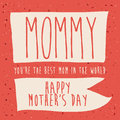 Mothers day design over red background vector illustration Stock Image