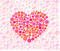 Mothers day elegant love heart background made out of spring flowers Royalty Free Stock Photography