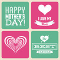 Mothers day happy card vector illustration Stock Image