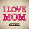 Mothers day happy card vector illustration Royalty Free Stock Photos