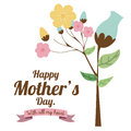 Mothers day happy card vector illustration Stock Photo