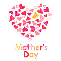 Mothers day happy on the white background Royalty Free Stock Image