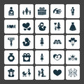 Mothers Day Icon Design Concept. Set Of 25 Such Elements