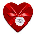 Mothers day present icon a heart shaped Stock Image