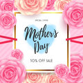 Mothers Day Sale with beautiful flower for Voucher Discount