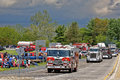 Mothers Day Truck Convoy in Lancaster Pennsylvania Royalty Free Stock Photo