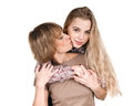 Mothers kiss Royalty Free Stock Photo