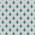 Moths seamless pattern, illustration