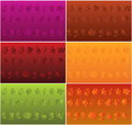Motif on three color backgrounds Royalty Free Stock Images