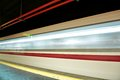 Motion blur outdoor of high speed train in subway Royalty Free Stock Photos