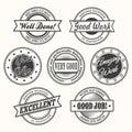 Motivate Badges Set Royalty Free Stock Photo