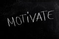 Motivate Text on Blackboard Royalty Free Stock Photo
