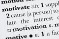 Motivate word dictionary defin Royalty Free Stock Photo