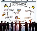 Motivation aspiration aim vision success concept Royalty Free Stock Image
