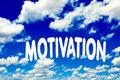 Motivation clouds on the clear blue sky Royalty Free Stock Image