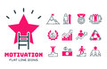 Motivation concept chart pink icon business strategy development design and management leadership teamwork growth
