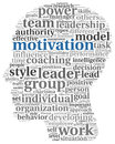Motivation concept in word tag cloud on white background Royalty Free Stock Image