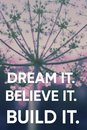 Motivation inspirational quotes typographic on photo.  Success positive poster Royalty Free Stock Photo