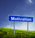 Motivation sign Stock Photos