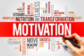 Motivation word cloud fitness sport health concept Stock Images