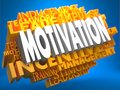 Motivation - Wordcloud Concept. Stock Image