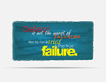 Motivational background defeat is not the worst of failures not to have tried is the true failure typography poster Royalty Free Stock Images