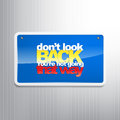 Motivational background don t look back you re not going that way Royalty Free Stock Photography