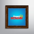 Motivational background happy monday with a picture frame Royalty Free Stock Photography