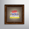 Motivational background life always offers you a second chance it s called tomorrow Stock Photos