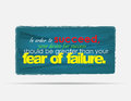 Motivational background in order to succeed your desire for success should be greater than your fear of failure typography poster Stock Photo