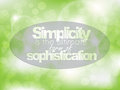 Motivational poster simplicity is the ultimate form of sophistication typography background Stock Image