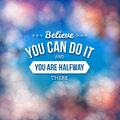 Motivational poster typography design vector illustration Royalty Free Stock Images