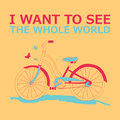 Motivational travel poster with bike.