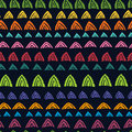 Motley ethnic seamless pattern Royalty Free Stock Image